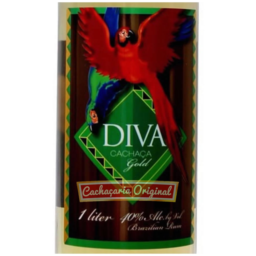 Cachaça Diva gold 1000ml