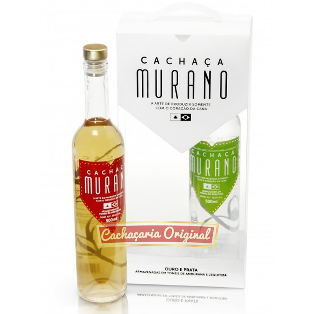 Cachaça Murano kit 500ml