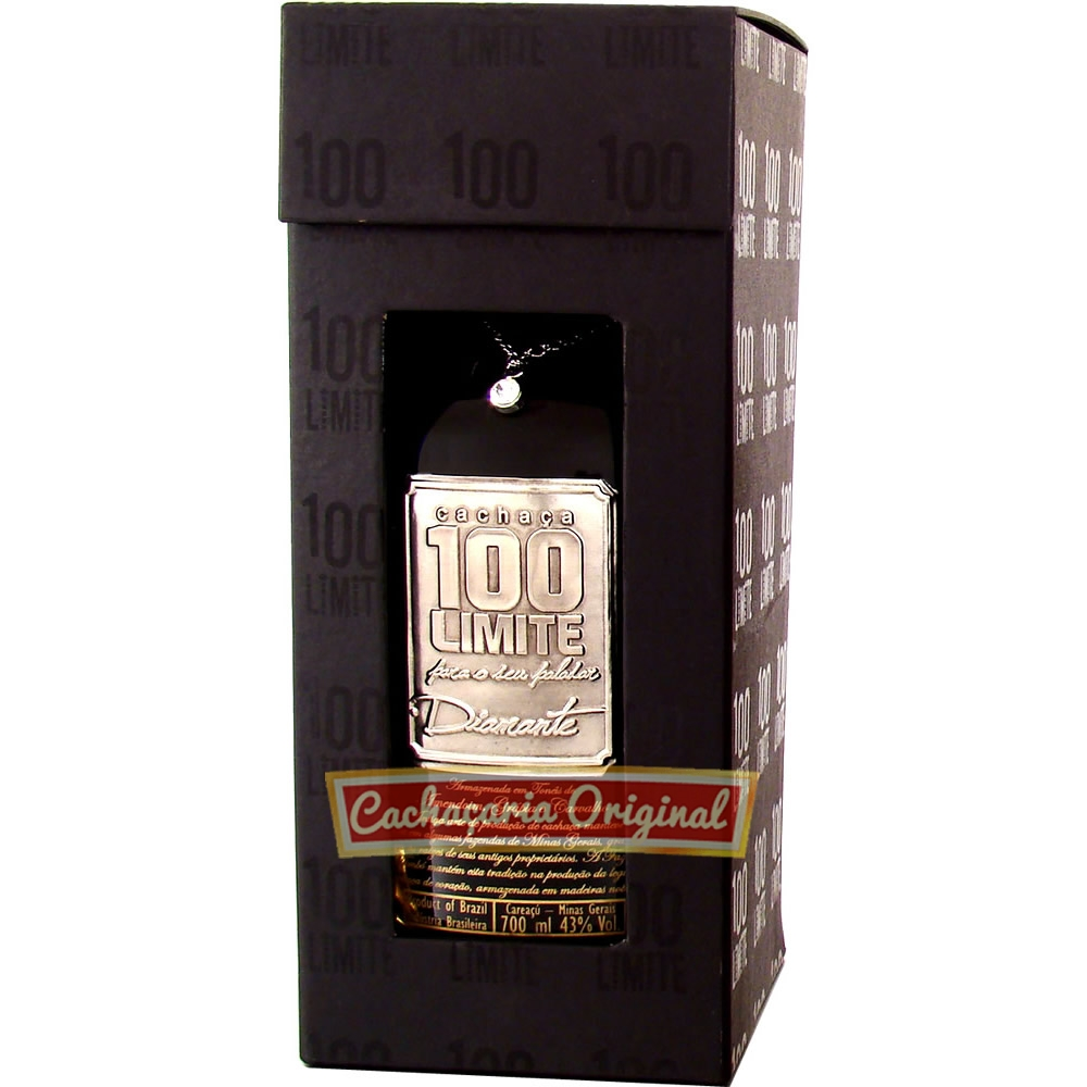 Cachaça 100 Limite Diamante 700ml