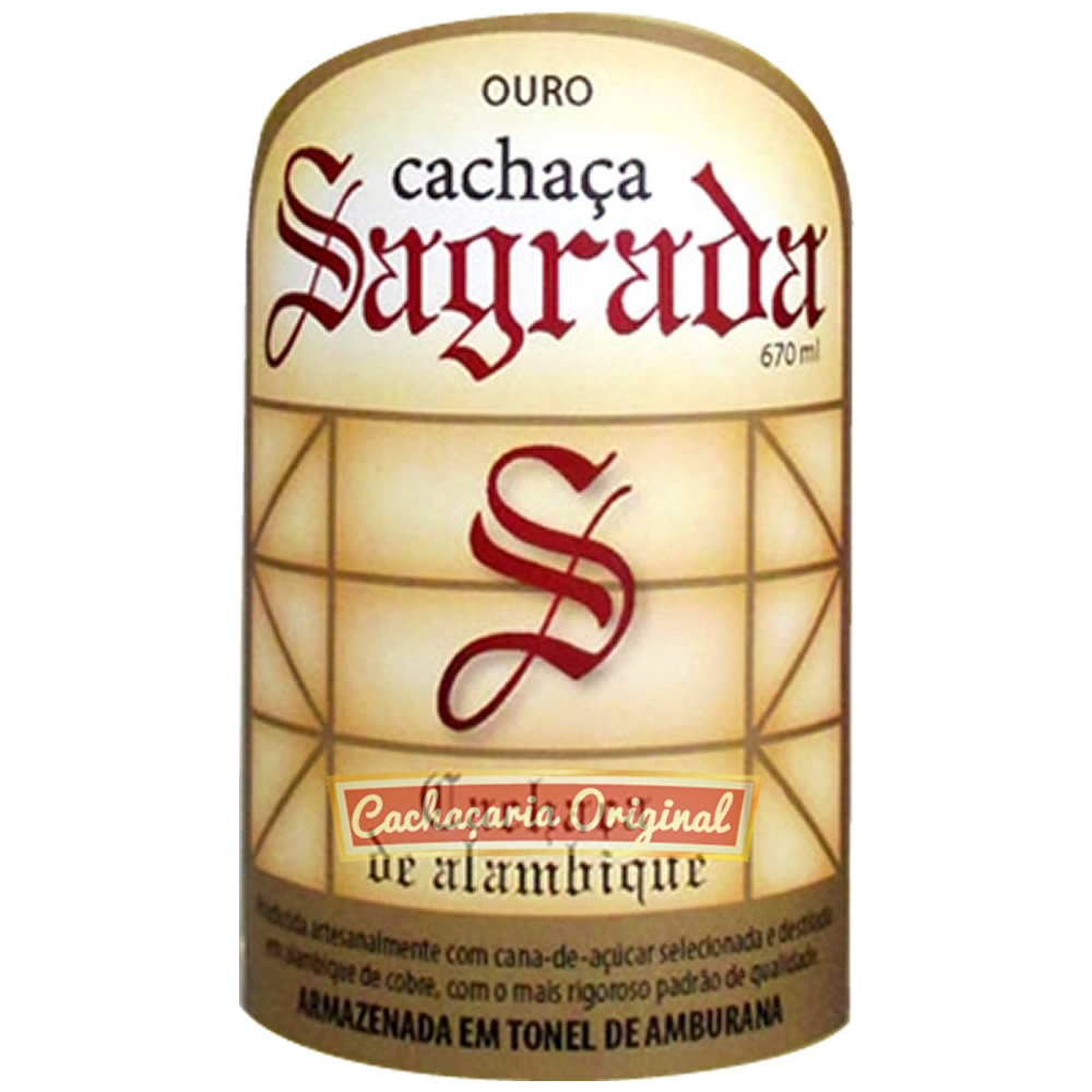 Cachaça Sagrada amburana 670ml