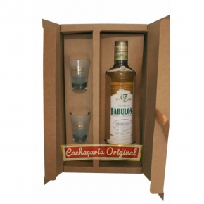 Cachaça Fabulosa kit papel kraft 700ml