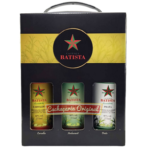 Cachaça Batista kit EVA 275ml 275ml